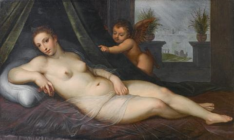 venus and cupid by lambert sustris