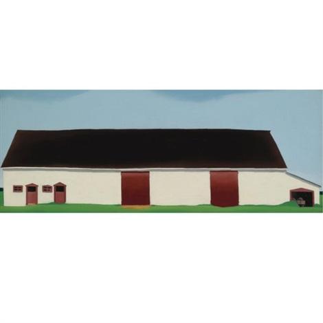 white barn with cart white barn no 4 by georgia okeeffe