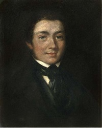 portrait of josias herd harling in a black coat and tie by james (le boxeur) ward