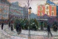 paris, la place pigalle et le cabaret l'abbaye de thelem by victor charreton