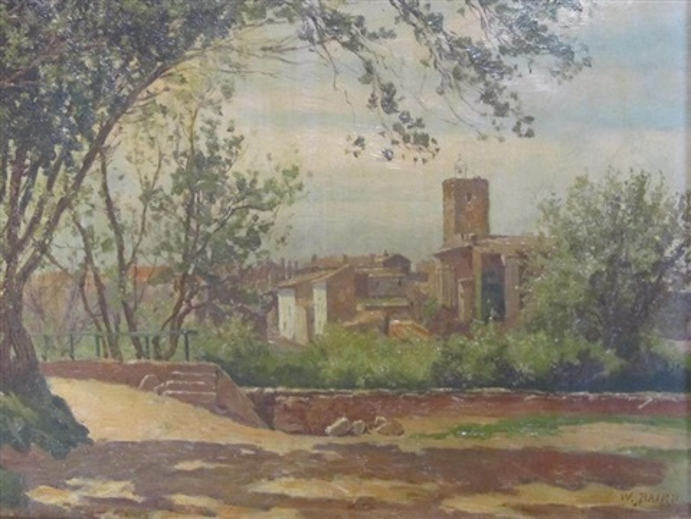 vue de la vieille ville de st raphaël et bord de mer à st raphaël pair by william baptiste baird