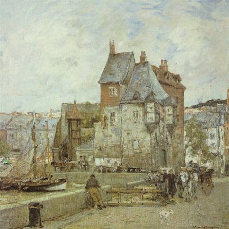 a french harbour town by adrien gabriel voisard margerie