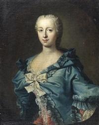 portrait de madame adrienne lecouvreur, actrice by louis de fontaine