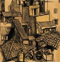 tetti di roma by renato guttuso