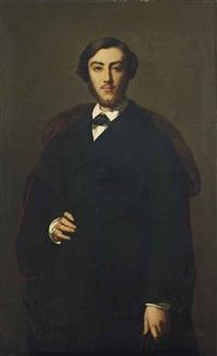 portrait d'homme à la cape rouge et au col fourré by eugène emmanuel amaury-duval (pineu)