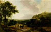 a country road winding through an expansive landscape by joseph william allen