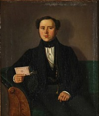 the artist's self-portrait by jacob christian gottschalk
