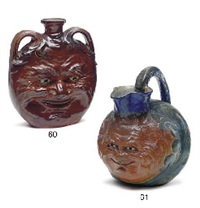 a glazed stoneware face jug, 1891 by martin brothers