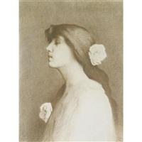 jeune fille aux roses by alexandre séon