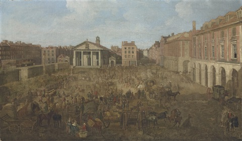 a view of covent garden piazza london by samuel scott