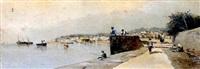 la pesca en el puerto by emilio álvarez ayllón (ayón)