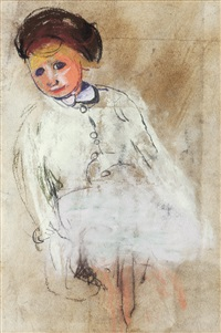 girl with chestnut hair by joan kathleen harding eardley