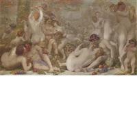 bacchanale by auguste (maurice françois giuslain) léveque