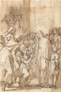 sainte françoise romaine guérissant un enfant muet by giulio benso