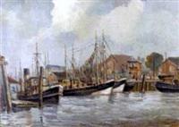 hafenansicht von cuxhaven by gerhard (von bruch) west