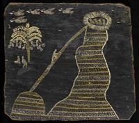 untitled - pelican myth (diptych) by nandjiwarra amagula