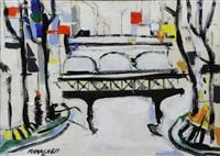 view of the seine paris by sante monachesi