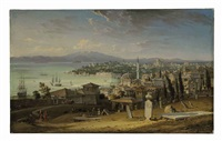 a view of the sarayburnu, constantinople, from galata by robert (col.) smith