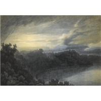 the lake of albano and castel gandolfo by john robert cozens