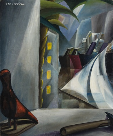 new york harbor by tamara de lempicka