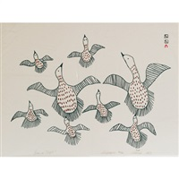 geese in flight by sharni pootoogook