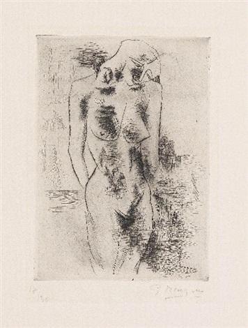étude de nu by georges braque