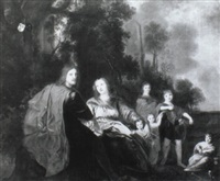 family portrait of charles de lannoy and sara joliet and their children by margarete melnitzky