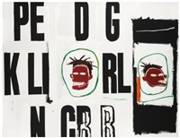 pe d g, two heads by jean-michel basquiat and andy warhol