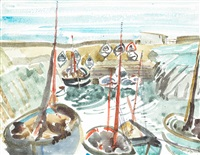 boats at clogherhead by nano reid