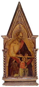 saint matthew: pinnacle to the san giovanni fuorcivitas polyptych by taddeo gaddi
