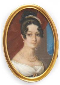 portrait d'une jeune femme by jean désiré muneret