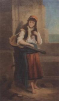 zigeunermädchen mit gitarre by johann till the younger