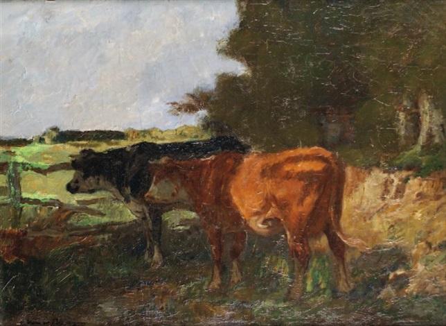 vaches à labreuvoir by adrien gabriel voisard margerie