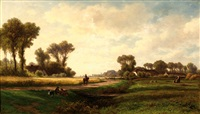 figures in a landscape by adrianus van everdingen