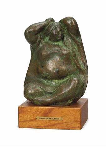 mujer peinádose by francisco zúñiga