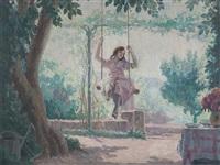 Girl on a Swing, 1920