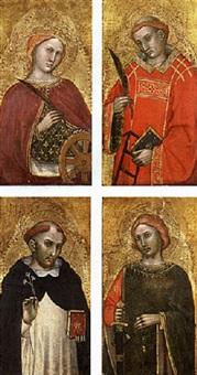 saint catherine of alexandria by pisan de taddeo di bartolo