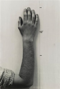 actual size (hand) by mel bochner
