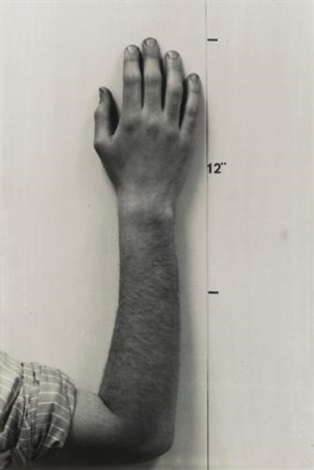 actual size hand by mel bochner