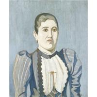seated woman by spyros papaloukas
