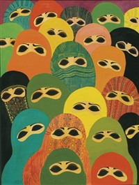 an endangered species, from the series women and the veil by laila shawa