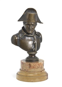 a bronze bust of napolean by pierre jean david d' angers