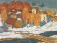 petit pont enneige by victor smirnov
