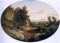 a figure in an italian landscape by johann georg gmelin