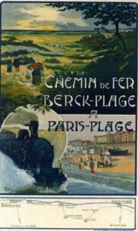 chemin de fer du nord, paris-plage le touquet by robert bouiller