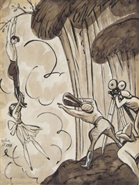 action! more action! show him you love him! by peter arno