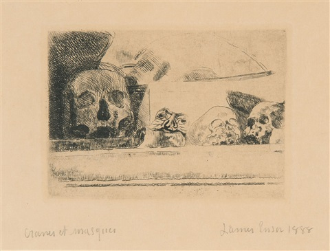 crânes et masques by james ensor