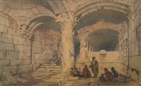 the interior of the al-aqsa mosque, jerusalem by carl haag