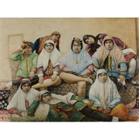 a group of women and a young boy by anonymous-persian (19)