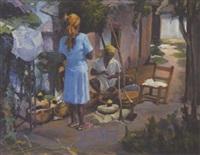 island scene by joseph newman